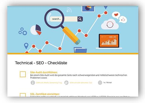 Technical-SEO Checkliste Voransicht